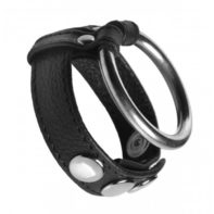 Leather and Steel Cock and Ball Ring-Strict Leather