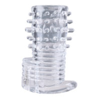 Clear Sensations Vibrating Textured Erection Sleeve-Size Matters
